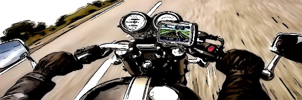 Navigationsgerät am Motorrad